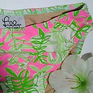 Lilly Pulitzer bikini bottoms period pink / green